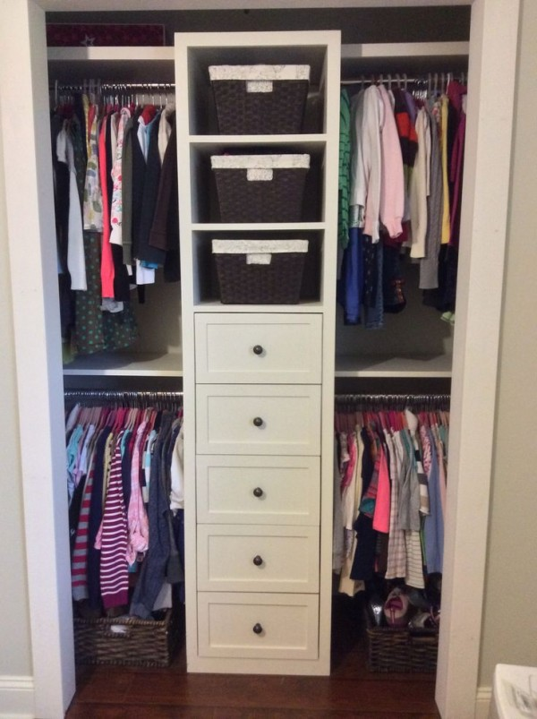 Interesting Small Shared Closet Organization Ideas For