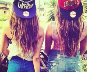 girl, friends, and lakers image