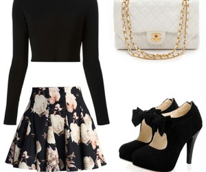 black, fashion, and Polyvore image
