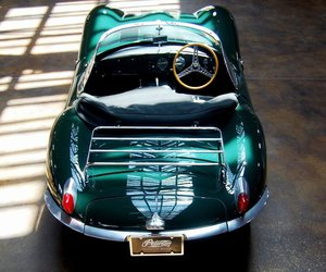 car, vintage, and green image