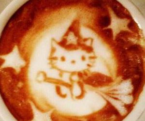 coffee, cup, and hello kitty image