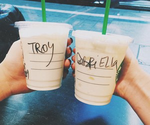 starbucks, love, and troy image