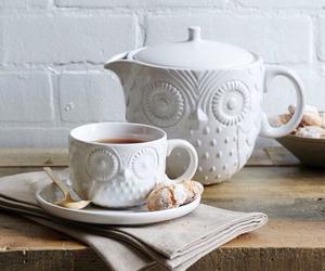 tea, owl, and white image