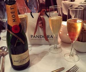 champagne, pandora, and moet image