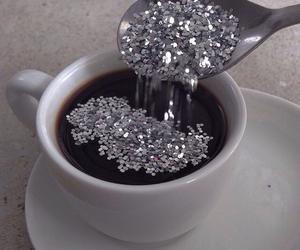 coffee, glitter, and grunge image