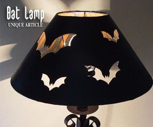 bat lamp, gothic lamp, and gothic bat lamp image