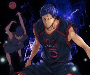 aomine daiki, anime, and kuroko no basket image