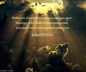 life, miracles, and believe image