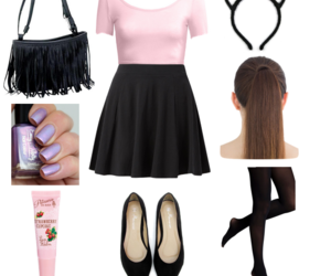 cat ears, girly, and nails image
