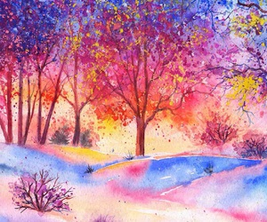 blue, landscape, and colorful image