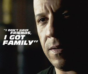 Vin Diesel, fast and furious, and family image
