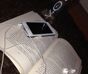 book, iphone, and morning image
