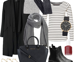 black and grey, black and white stripes, and black boots image