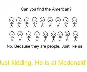 american, funny, and McDonalds image