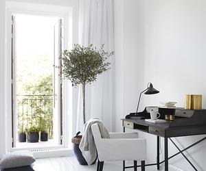 interior, white, and decor image