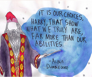 harry potter, albus dumbledore, and quote image