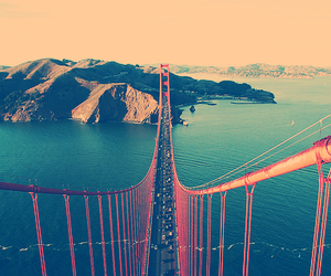 bridge, sea, and san francisco image