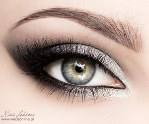 beauty, lashes, and make up image