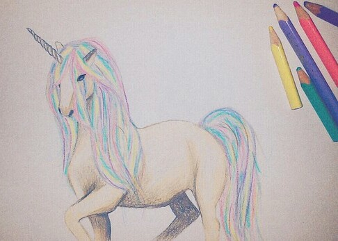 creative, art, and coloured pencils image