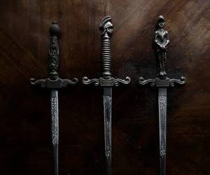 sword, black, and weapon image