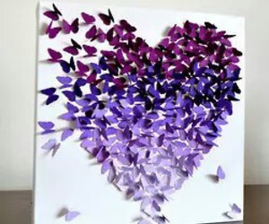 butterfly, purple, and heart image