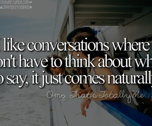 conversation, speak, and totally me image