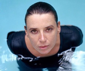 black, hair, and pool image