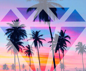 background, diamond, and beach image