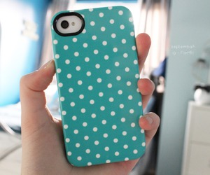 case, blue, and iphone image