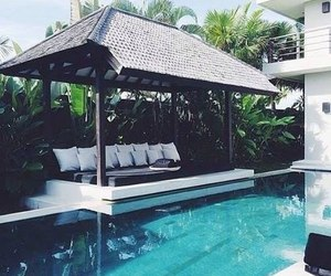 summer, house, and pool image