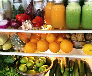 food, fruit, and fridge image