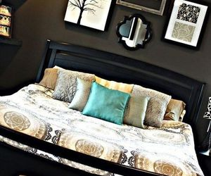 decor, bedroom, and bed image