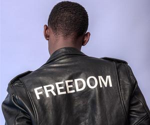 freedom, photography, and leather jacket image