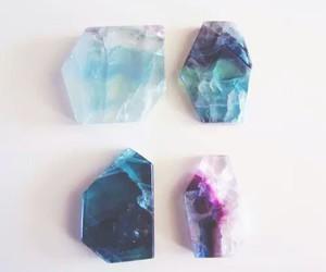 crystal, blue, and grunge image