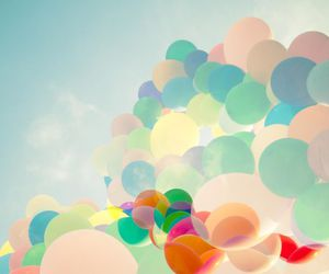 balloons, lovely, and sky image