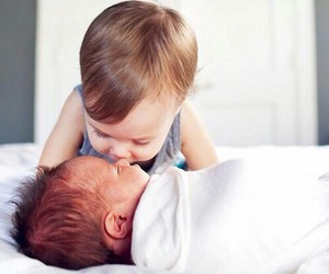 baby, cute, and kiss image