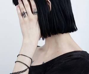 girl, pale, and black image