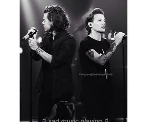 black and white, louis, and music image