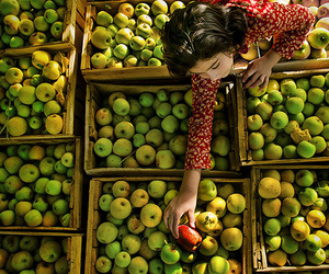 apple and woman image