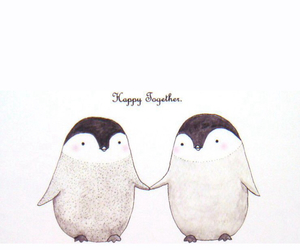 penguin, love, and happy image