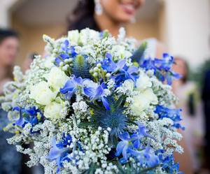 blue, flower, and me image