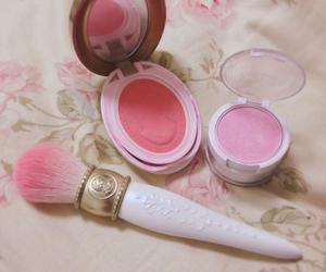 makeup, pink, and cute image