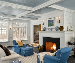 blue, decor, and love image