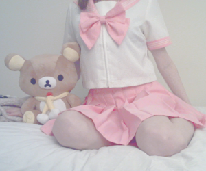 pink, rilakkuma, and cute image