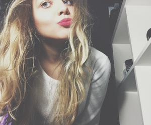blonde, blue eyes, and girl image