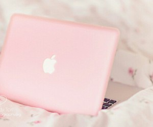 pink, apple, and laptop image