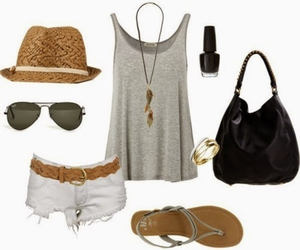fashion, lake, and outfit image