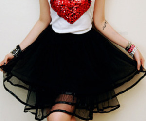 fashion, heart, and skirt image