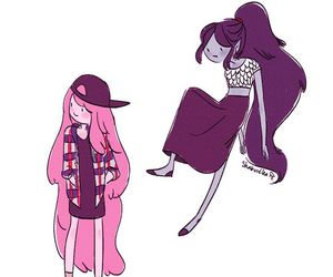 adventure time, bubblegum, and marceline image