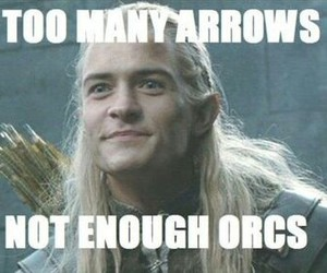 Legolas, LOTR, and arrows image